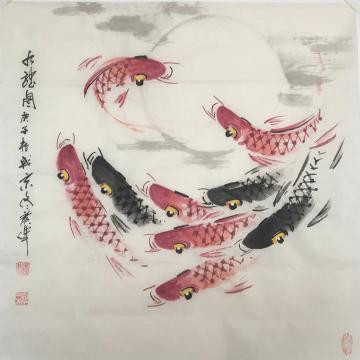 佟广伟四尺斗方国画花鸟九龙图字画之家