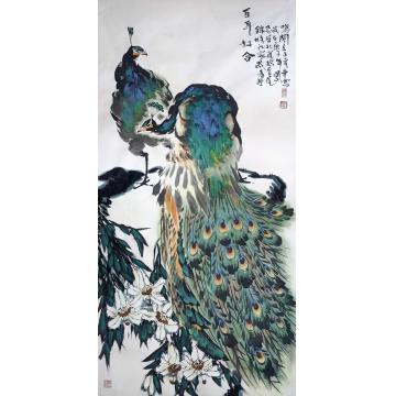 王孝华国画花鸟百年好合字画之家