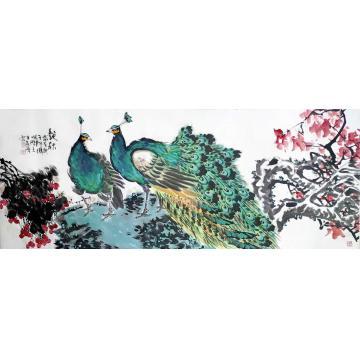 王孝华小六尺整张横幅国画花鸟艳秋图字画之家