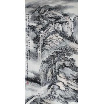 于恩沛四尺整张竖幅国画山水好入名山游字画之家