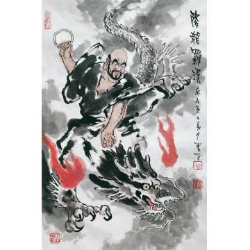 佟宝全国画人物降龙罗汉字画之家