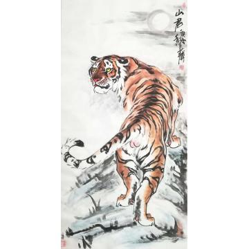 刘文录四尺整张竖幅国画动物山君字画之家