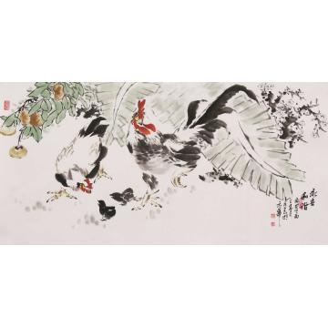 杜元春四尺整张横幅国画花鸟永世和谐字画之家