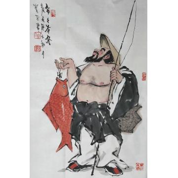 佟宝全国画人物年年有余字画之家