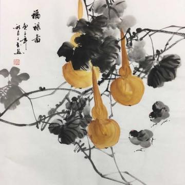 李子玉国画花鸟福禄图字画之家