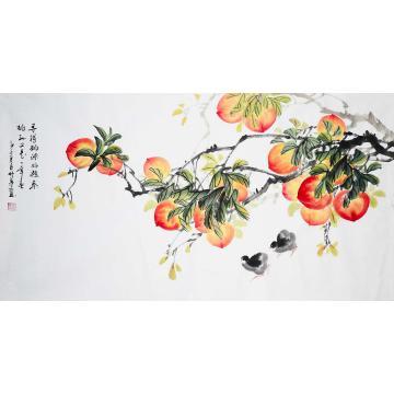 胡林梦三尺整张横幅国画花鸟寻得桃园字画之家