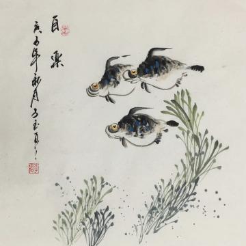 李子玉三尺斗方国画花鸟自乐字画之家