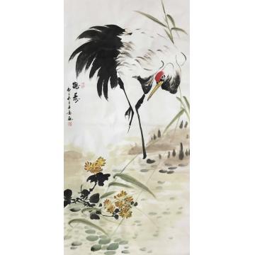 子意国画花鸟鹤寿字画之家