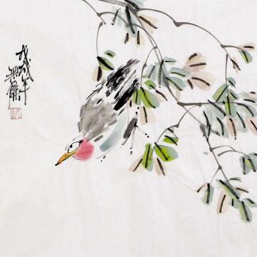 姜志勇三尺斗方国画花鸟雅趣字画之家
