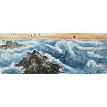 陈春勇小六尺整张横幅国画山水海纳百川字画之家
