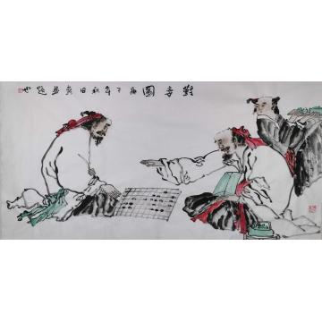 熊秋田国画人物对弈图字画之家