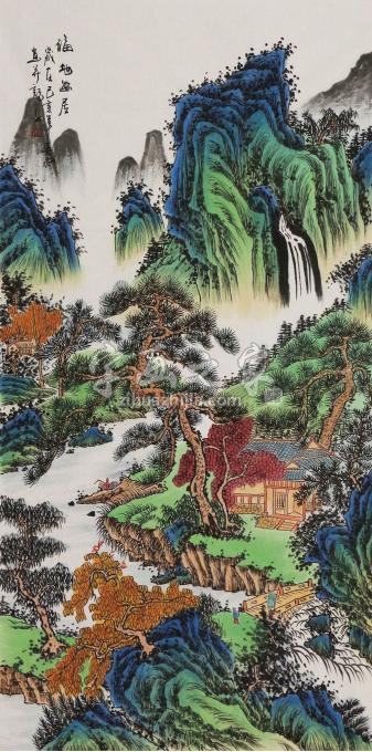王春雨四尺整张,竖幅国画山水福地幽居字画之家