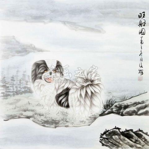 翟俊梅国画动物旺财图字画之家