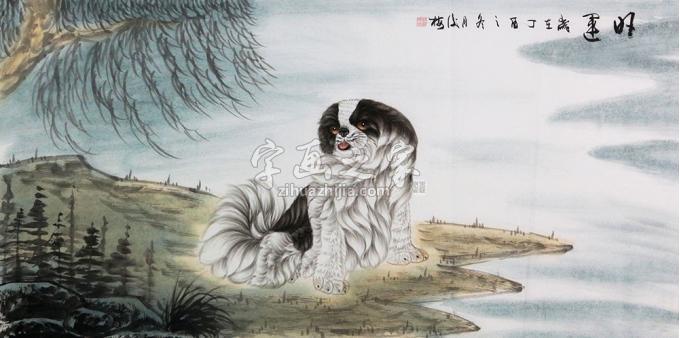 翟俊梅国画动物旺运字画之家