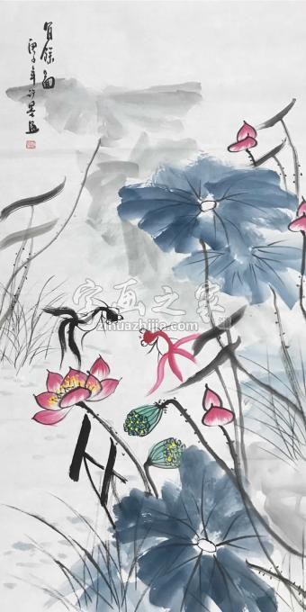 许墨四尺整张竖幅国画花鸟有余图字画之家