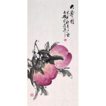 朱大成国画花鸟大寿图字画之家