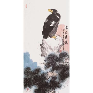 朱大成国画花鸟高瞻远瞩字画之家