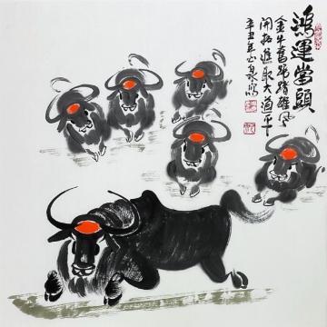 周光庆国画花鸟鸿运当头字画之家