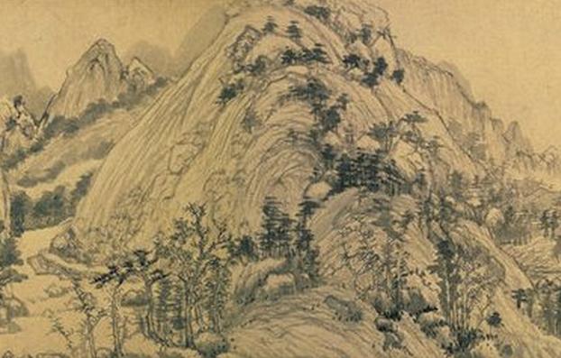 国画四季风景题款